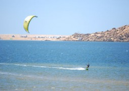 kite surfeur en action