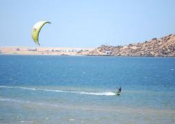 kite surfeur en action