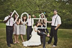photo de mariage entre amis