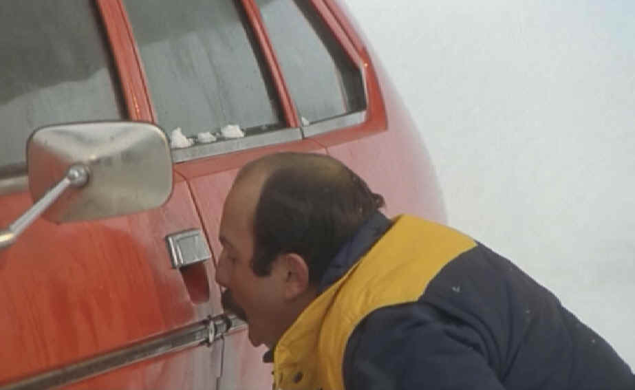 Serrure de porte+voiture+gelée