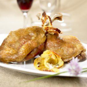 Cuisse de canard confite en conserve